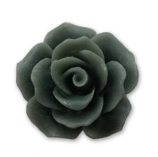 18mm Grey Resin Rose Bloom Cabochon